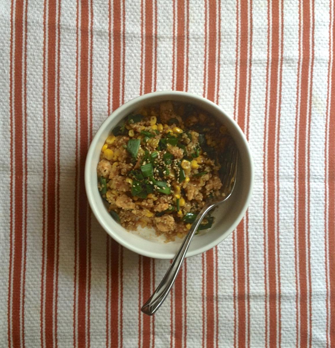 sesame quinoa