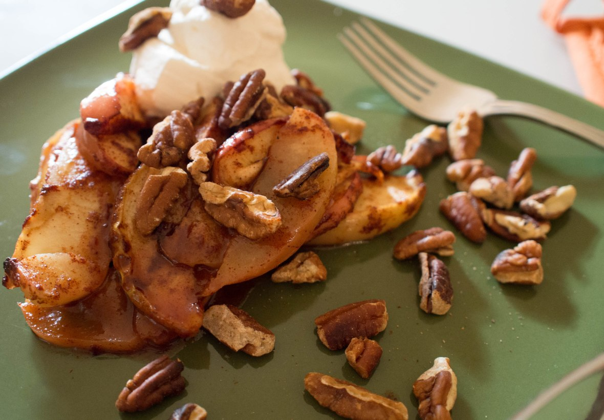 CRUSTLESS APPLE PIE WITH TOASTED SALTED PECANS & MAPLE ...